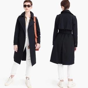 J. Crew Side-Button Trench Coat in Deepest Navy 6
